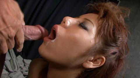 Nasty redhead Asian babe Rui Shiina giving blowjob and hard fucked