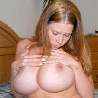 Courtnie is natural red head with extremly big tits