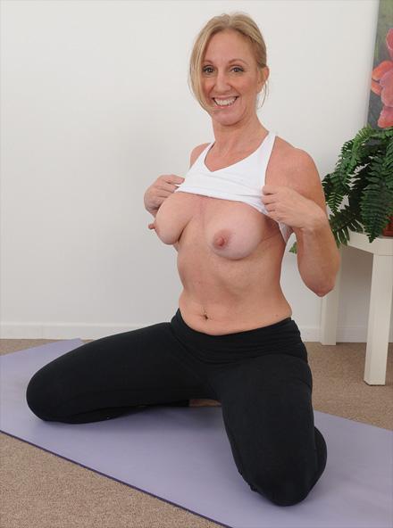 naked milf yoga