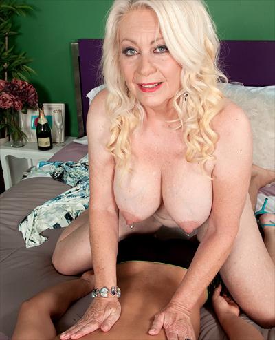 pierced nipple granny