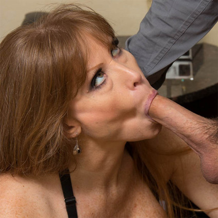 Busty milf claudine rides a cock and gets a big facial 9