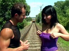 Busty Teen On The Rails