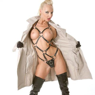 veronica simon flashing in a raincoat
