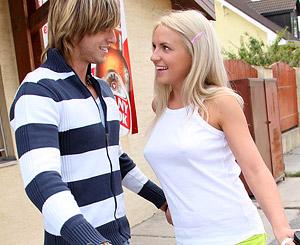 Blonde babe gets fucked by her ex boyfriend