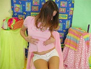 Teen In Short Shorts