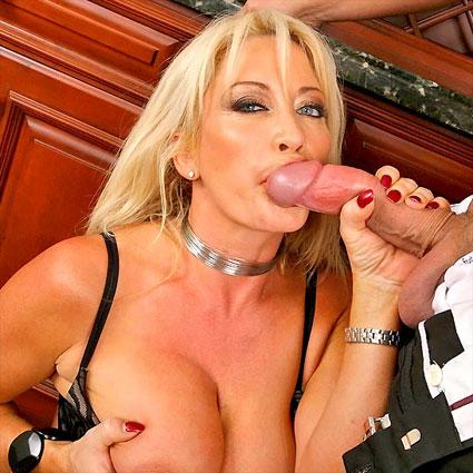 big tits boss jenna sucks cock at work