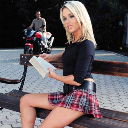 Big Tit Blonde School Girl