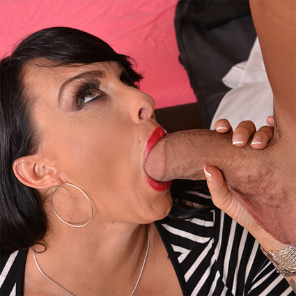 holly halston sucks cock