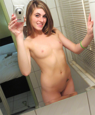 Naked teen small tits selfie remarkable