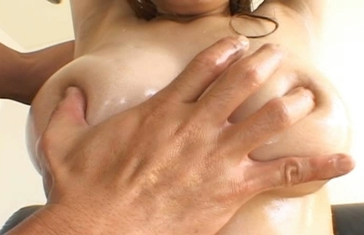 Maos big tits squeezed and fucked