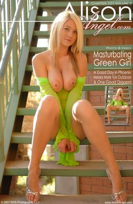 Alison Angel Masturbating Green Girl